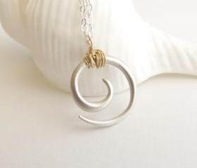 Koru tribal swirl necklace