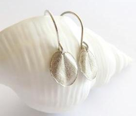 Tiny ohi'a leaf earrings